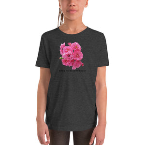 """DTBD"" (Rose Garden) blk letters Youth Short Sleeve T-Shirt"
