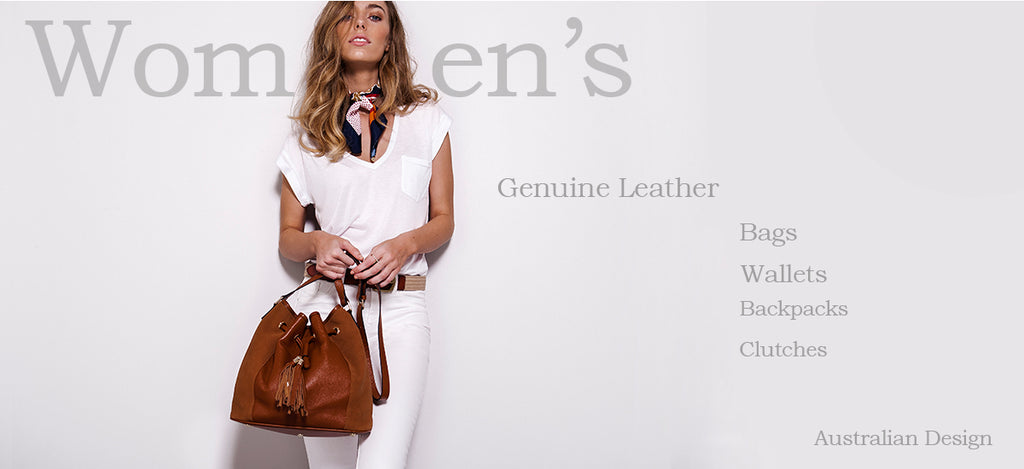 Woman's genuine leather bags, wallets