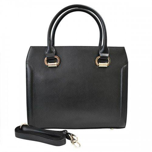 VICTORIA - Womens Black Genuine Leather Bag-Womens Bag-BeltNBags-BeltNBags