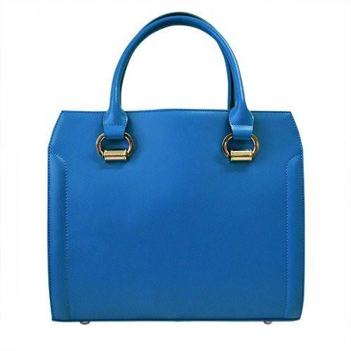 VICTORIA - Womens Blue Genuine Leather Bag-Womens Bag-BeltNBags-BeltNBags