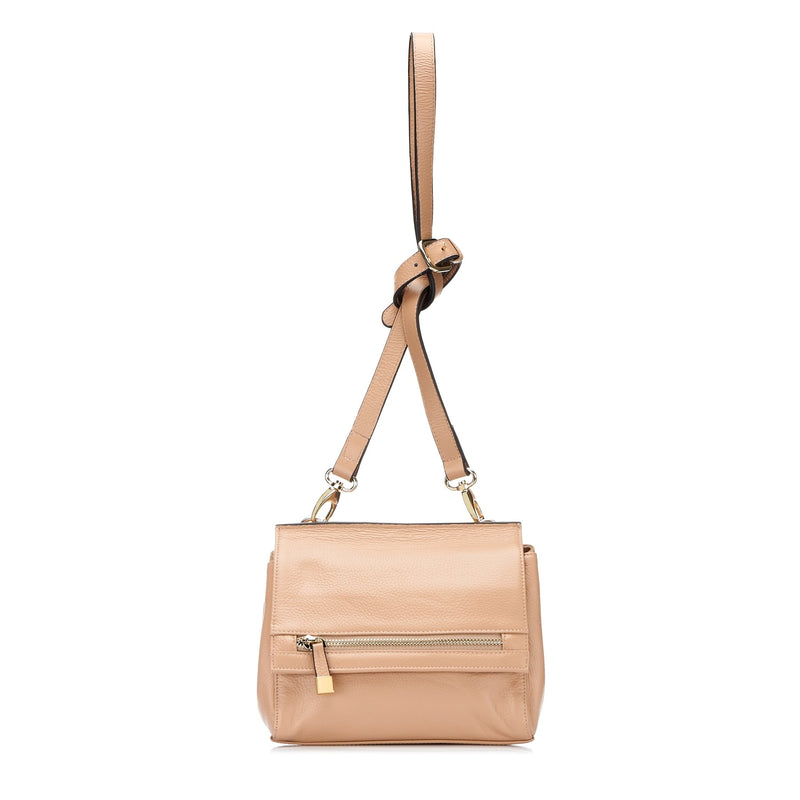 HUNTERS HILL-  Nude Genuine Leather Crossbody Shoulder Bag - AllBags4u