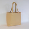 CORAL BAY-  Beige Soft Leather Shopper Tote Bag - AllBags4u