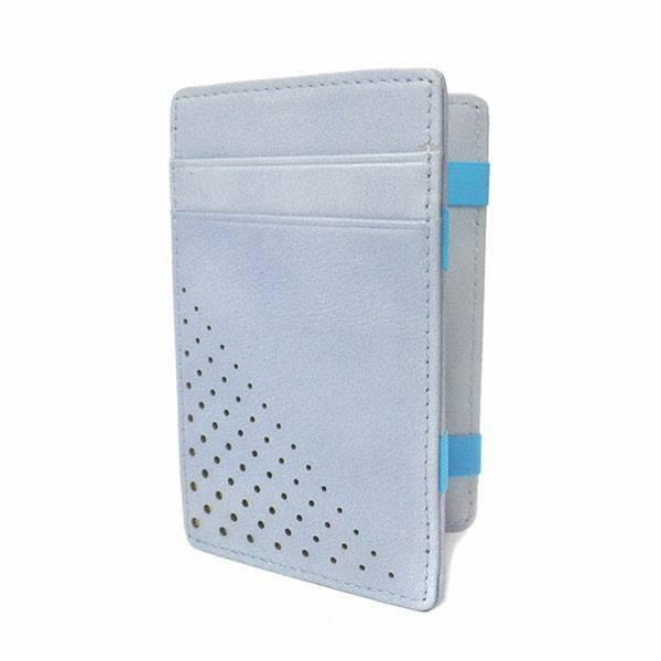 ADALSON - Blue Leather Magic Wallet in a Gift Box - AllBags4u