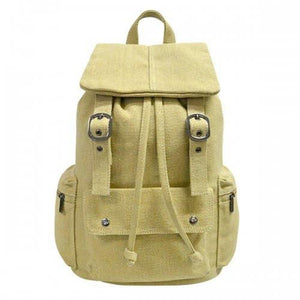 ARIZONA - Khaki Canvas Backpack Bag-backpack bag-BeltNBags-BeltNBags