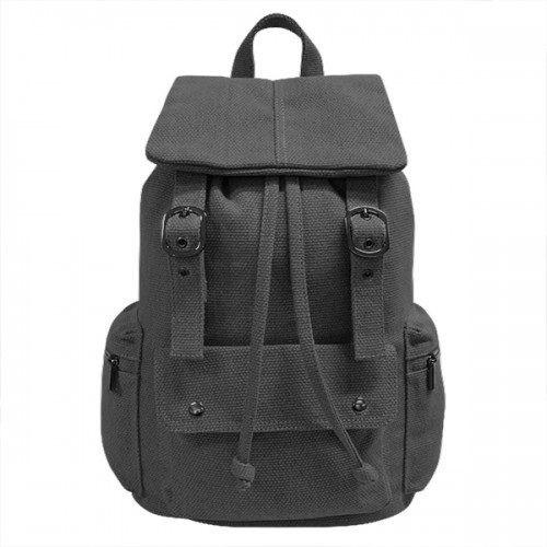 ARIZONA - Charcoal Canvas Backpack Bag-backpack bag-BeltNBags-BeltNBags