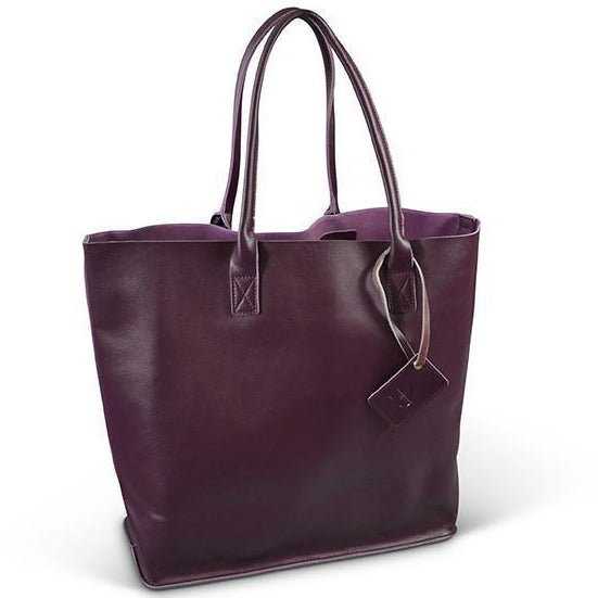 90cac53e9ba7 BIRCHGROVE - Addison Road Purple Leather Slouch Shopper Tote Bag ...