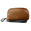 CARMICHAEL-  Tan Purse Leather Wristlet Cardholder - AllBags4u