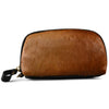 CARMICHAEL-  Ladies Tan Cowhide Leather Wristlet Cardholder Wallet - Addison Road