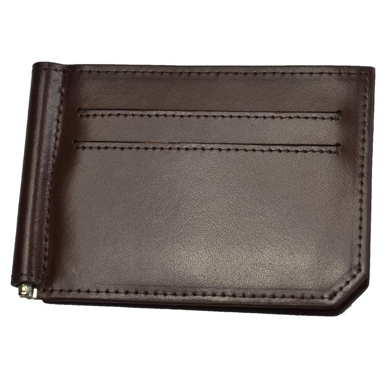 Apollo - Mens Brown Leather Thin Card Wallet - AllBags4u