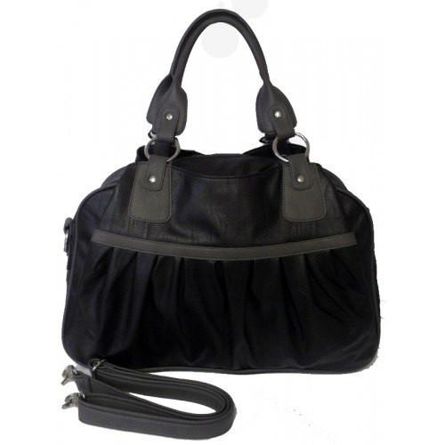 Bianca - Black Diaper Changing Shoulder Bag - AllBags4u