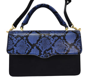 Billie  - Snakeskin Faux Leather Crossbody