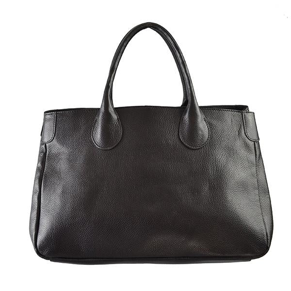 BRIGHTON - Black Pebbled Leather Handbag - BeltNBags