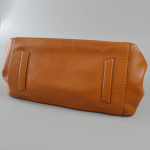 BRIGHTON - Cognac Pebbled Leather Handbag - BeltNBags
