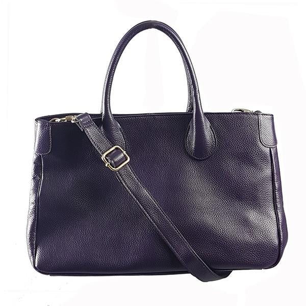 BRIGHTON - Grape Pebbled Leather Handbag - BeltNBags