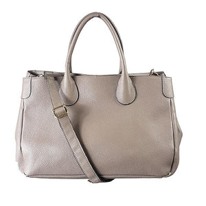 BRIGHTON - Womens Grey Leather Handbag - AllBags4u