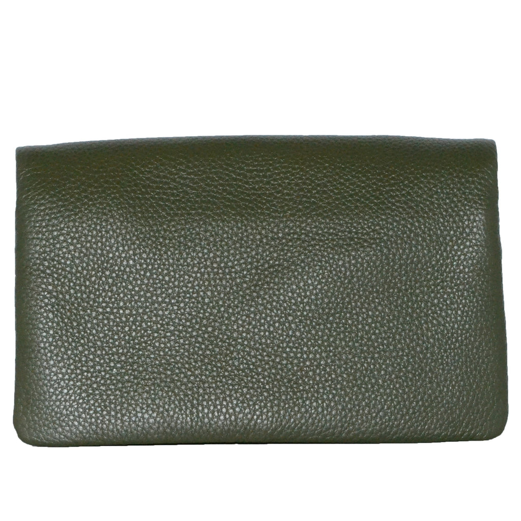 CREMORNE - Addison Road Emerald Soft Pebbled Leather Fold Wallet - Belt N Bags