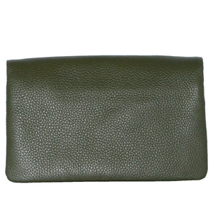 CREMORNE - Ladies Emerald Green Soft Pebbled Leather Fold Wallet - AllBags4u