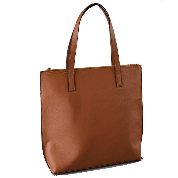 CHERMSIDE - Womens Tan Leather Shopper Tote - AllBags4u