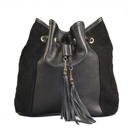CLOVELLY - Addison Road Black bucket bag - Addison Road