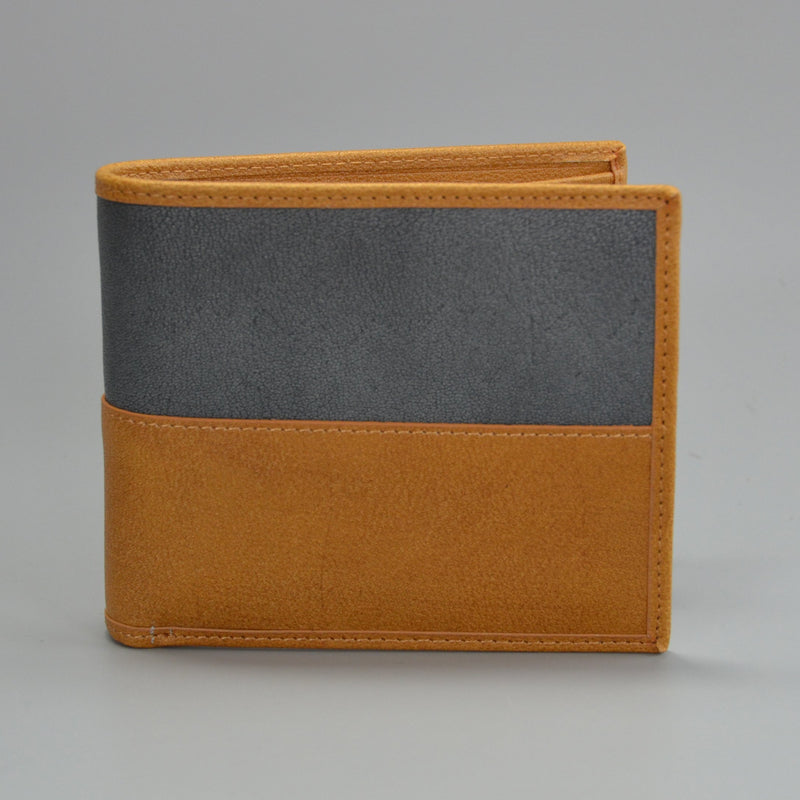 COLT - Mr Selby Mens Tan and Grey Genuine Leather Wallet in Gift Box - AllBags4u