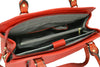 Rothbury  - Womens Red Genuine Leather Spacious Handbag - AllBags4u