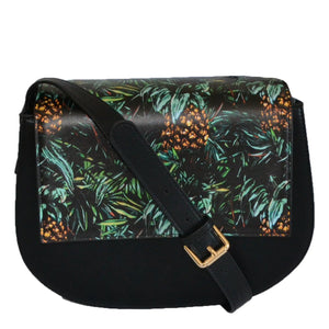 Cleo  - Womens Tropical Faux Leather Crossbody with Interchangeable Lids - Belt N Bags