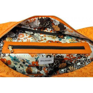 Farley - Orange Embroidered Lamb Design Overnighter Baby Handbag Tote - AllBags4u