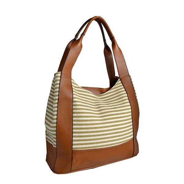 DOUBLE BAY -Addison Road Tan Double Zip Shoulder Bag - BeltNBags