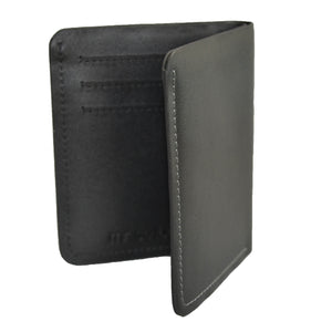 FORBES - Black Genuine Leather Card Holder Thin Wallet in Gift Envelope - AllBags4u