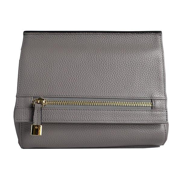HUNTERS HILL-  Grey Genuine Leather Bag - BeltNBags