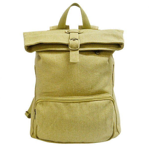 IDAHO - Canvas Khaki Backpack - AllBags4u