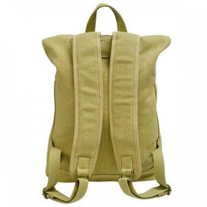 Idaho Cotton Canvas Khaki Beige Backpack - AllBags4u