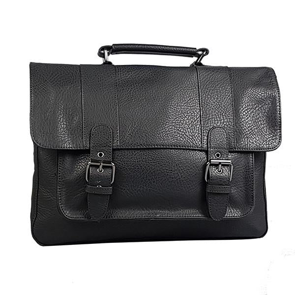 Justin - Mens Genuine Leather Satchel Briefcase Bag - AllBags4u