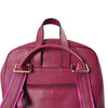 Kingscliff - Ladies Purple Genuine Leather Backpack with Bird Embroidery - AllBags4u