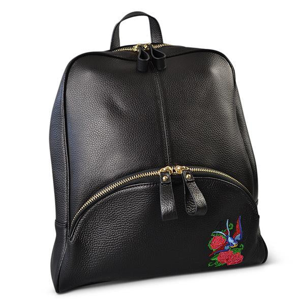 KINGSCLIFF - Addison Road - Black Pebbled Leather Backpack
