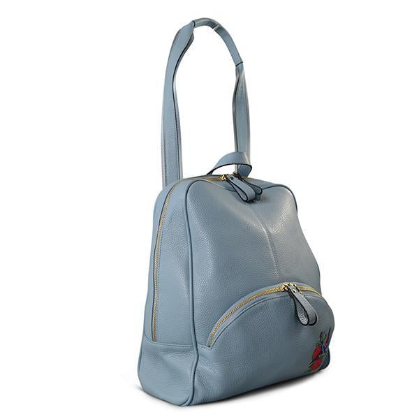 KINGSCLIFF - Addison Road - Blue Pebbled Leather Backpack