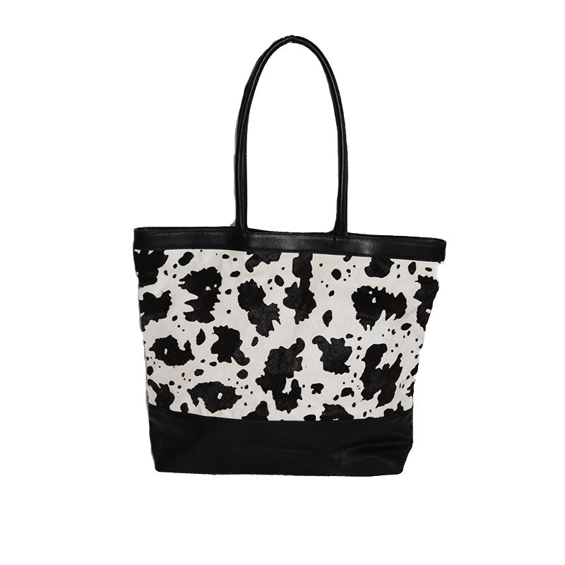 LORA - Calfhair Leather Tote Bag - AllBags4u