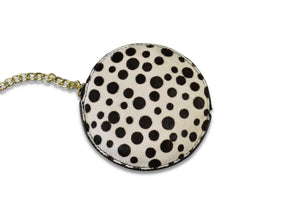 LORN- Addison Road Spot Calf Hair Coin Purse - BeltNBags