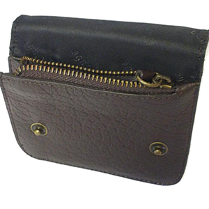 MORRIS - Men's Brown Genuine Leather Flip Wallet with Zip Pocket - AllBags4u