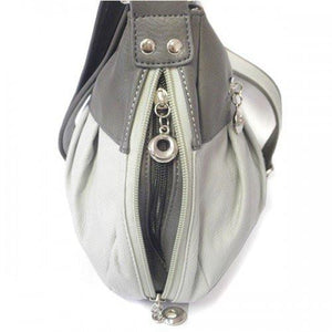 NOLENE - Grey Faux Leather Shoulder Bag-Womens Bag-BeltNBags-BeltNBags