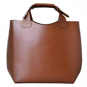 PADDINGTON - Womens Tan Genuine Leather Tote-Womens Bag-BeltNBags-BeltNBags