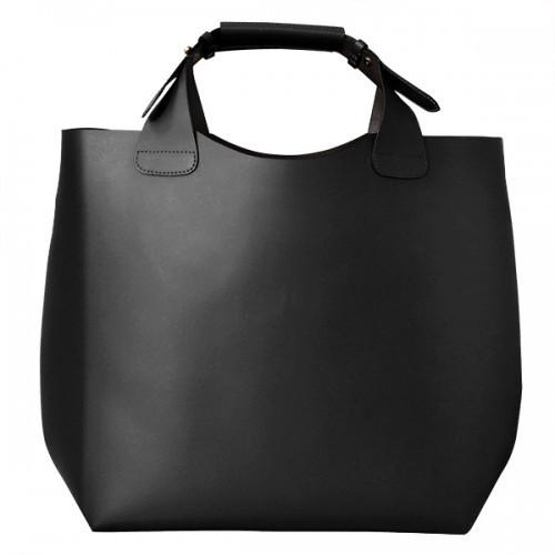PADDINGTON Addison Road Womens Black Genuine Leather Tote-Womens Bag-BeltNBags-BeltNBags