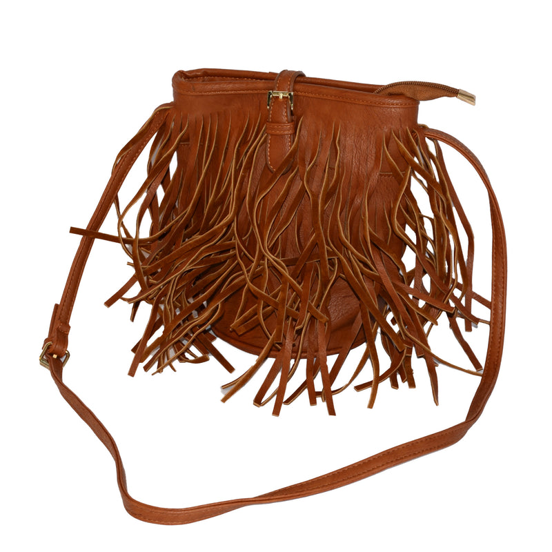KEITH - Woman's brown leather crossbag - AllBags4u