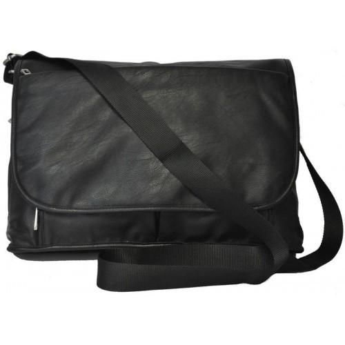 RIVERDALE - Mens Black Faux Leather Bag-men's bag-BeltNBags-BeltNBags