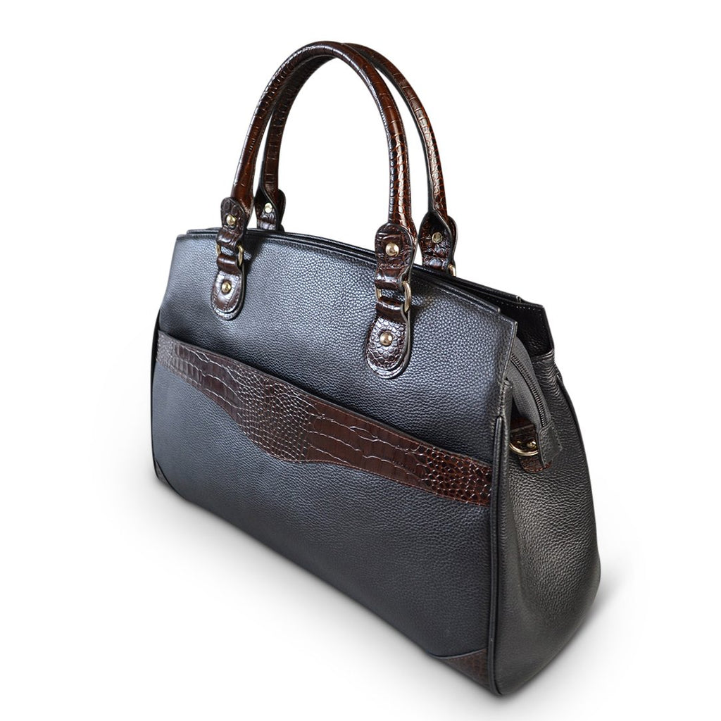 Rothbury - Womens Black Genuine Leather Spacious Handbag - AllBags4u