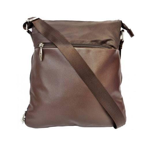SONDRA - Chocolate Faux Leather Shoulder Bag-Womens Bag-BeltNBags-BeltNBags