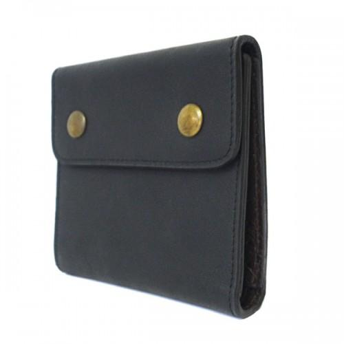 SPIRO - Mens Black & Brown Leather Wallet - BeltNBags