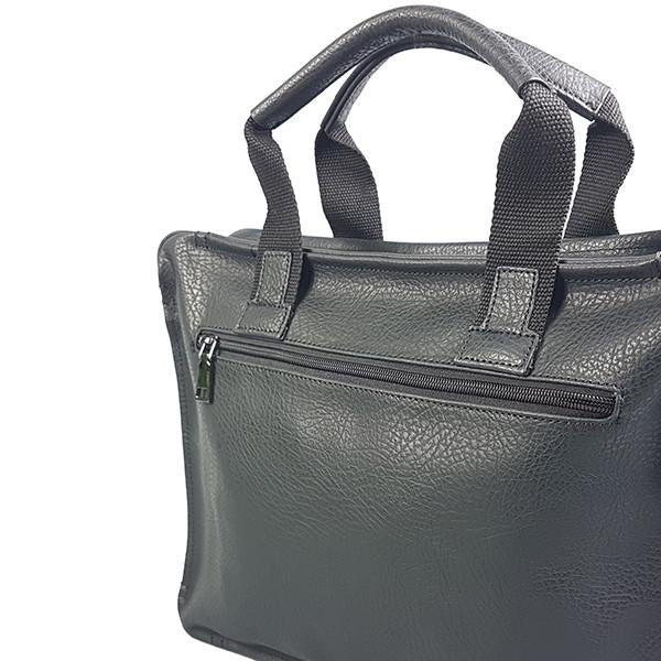 Simon - Mens Black Genuine Leather Laptop Bag - AllBags4u
