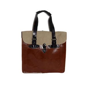SIMPSON - Mens Brown Leather Business Bag - AllBags4u