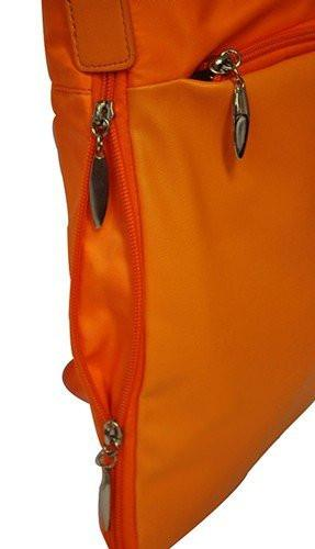 SONDRA - Orange Faux Leather Shoulder Bag-Womens Bag-BeltNBags-BeltNBags